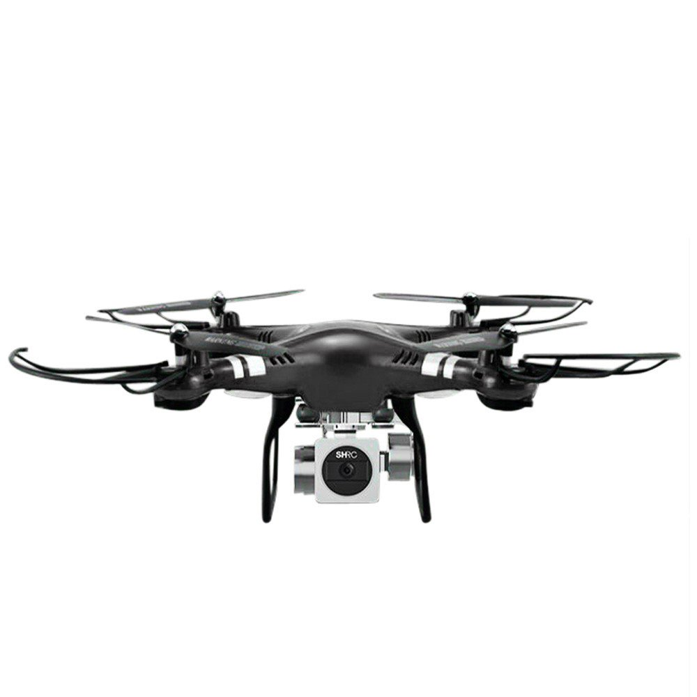 Kanzd RC Quadcopter 1080P Wide Angle Lens 270 Degree Rotating HD Camera Drone FPV Gift (Black)