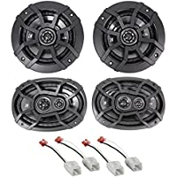 2006-2008 Dodge Ram 1500 Kicker Front 6x9+Rear 5.25 Speaker Replacement Kit