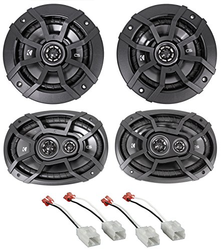"Kicker Front 6x9""+Rear 5.25"" Speaker Replacement Kit For 2006-08 Dodge Ram 1500"