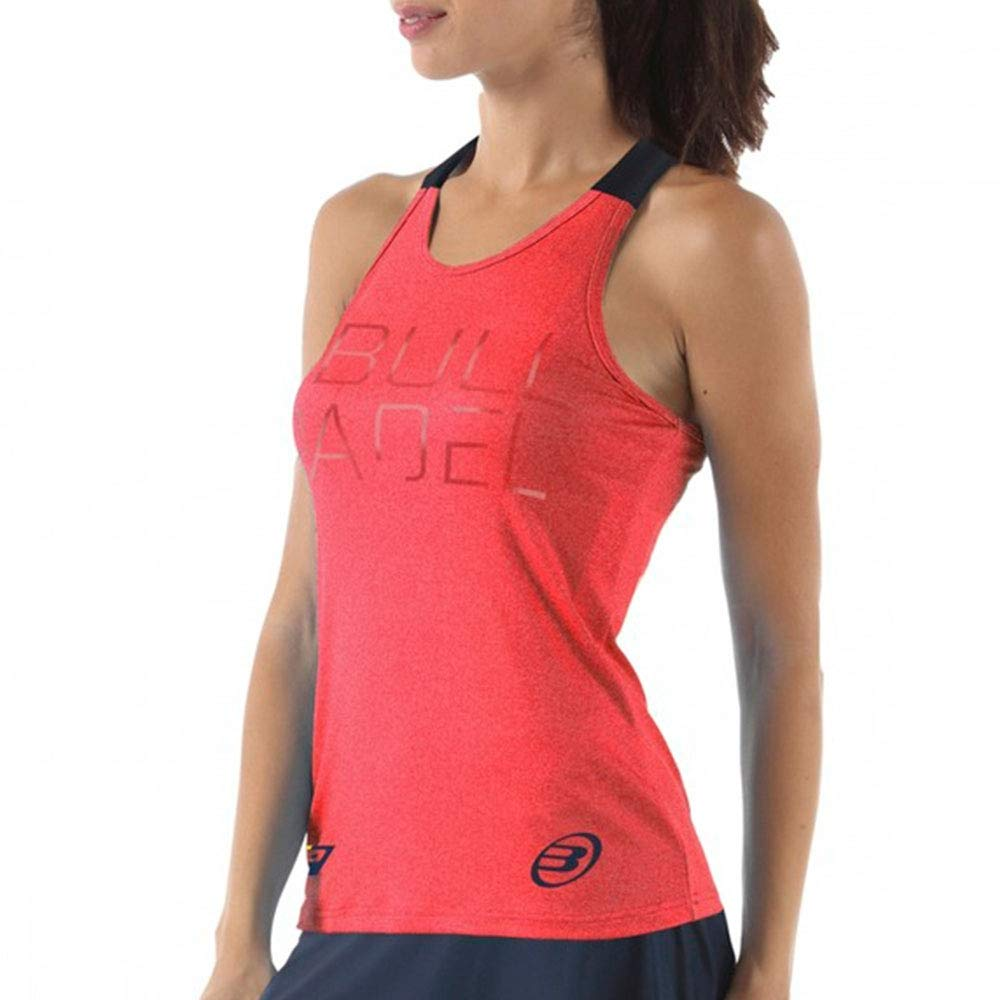 Bull padel Camiseta BULLPADEL VALELLA Rojo Mujer: Amazon.es ...