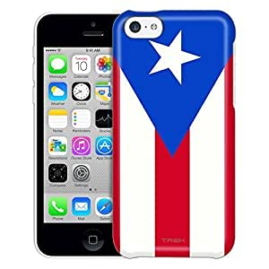 Apple iPhone 5C Case, Slim Fit Snap On Cover by Trek Puerto Rico Flag Trans Case