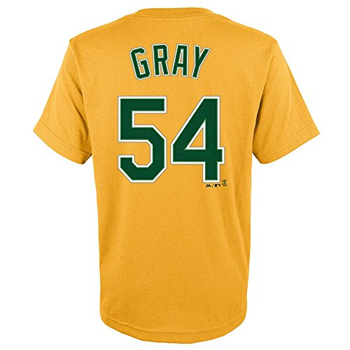 OuterStuff Sonny Gray MLB Majestic Oakland Athletics Player Alt Jersey T-Shirt Youth (S-XL)