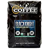 Organic Black Knight Dark Roast Coffee, Artisan Blend, Fair Trade, Whole Bean Bag, Fresh Roasted Coffee LLC. (5 LB.)