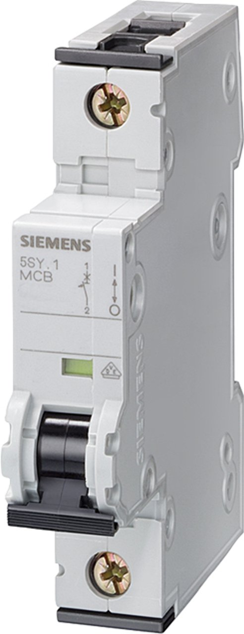 Siemens 5SY61207 Supplementary Protector, UL 1077 Rated, 1 Pole Breaker, 20 Ampere Maximum, Tripping Characteristic C, DIN Rail Mounted