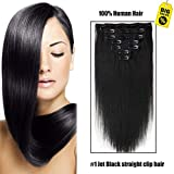 Best Hair Extensions - SHOWJARLLY Straight Remy Clip in Human Hair 7pcs/set Review