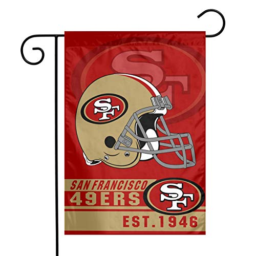 (Marrytiny Custom Colorful Garden Flags American Football Team San Francisco 49ers Home 100% Polyester Outdoor Flag 12x18 Inch Home House Decoration Flag)