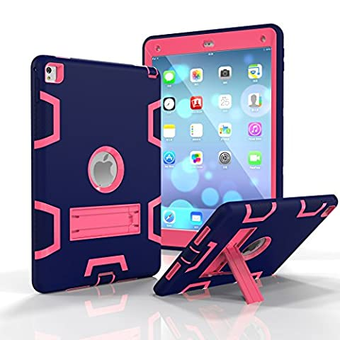 iPad Air 2 Case, iPad Pro 9.7 inch Case, Tina Shop Three Layer Kickstand Armor Defender High Impact Resistant Shock-Absorption Hybrid Protective Case for iPad Air 2/ iPad Pro 9.7 (2016 (Ipad Fourth Generation Case Speck)