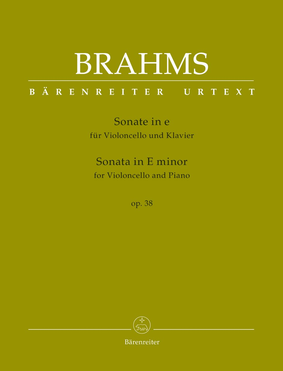 Brahms, J. - Sonata in E Minor for Violoncello and Piano op. 38