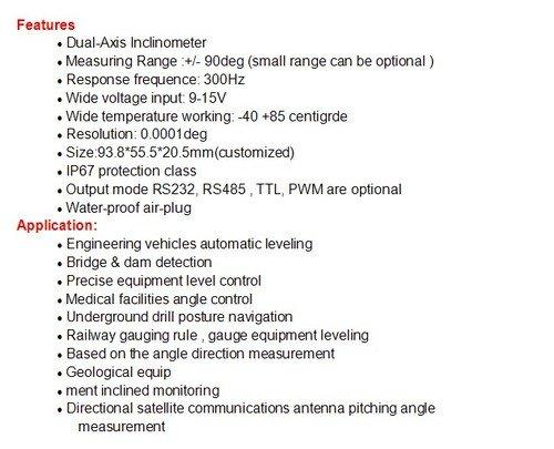 Gowe Super High Precision Digital Inclinometer Tilt Sensor Angle Meter with full temperature compensation