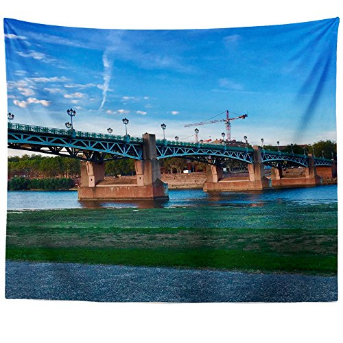 Westlake Art - City Bridge - Wall Hanging Tapestry - Picture Photography Artwork Home Decor Living Room - 68x80 Inch (79E55) -