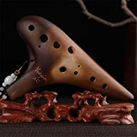 L'MS Professional 12 Hole Alto C Ocarina Classic Smoked Strawfire Masterpiece Collectible