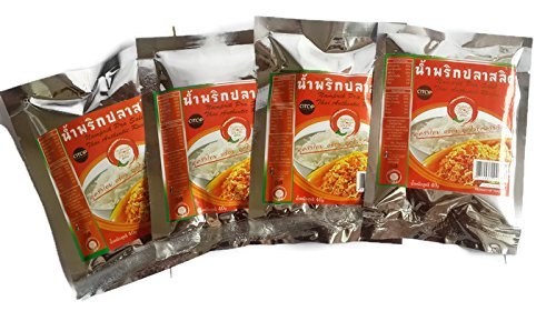 [Namprik Pla Salid (Thai Fish Chili Paste) - 4 packs x 40 gms] (Peanut Butter And Jelly Costumes Homemade)