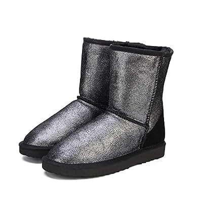 Amazon.com: Fumak Genuine Leather Snow Boots for Women