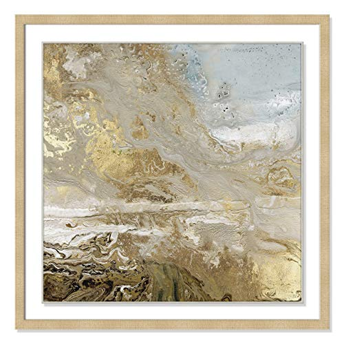 Casa Fine Arts Playa Secreto III Metallic Abstract Modern Geode Marble Archival Art Print, 31