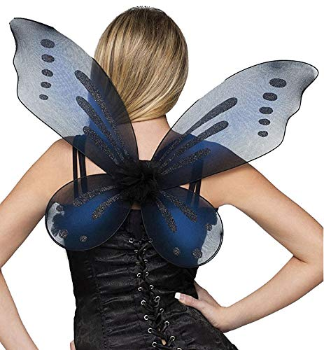 Fun World Women's Fairy Adult Wings Costume Accessory, Black, Standard (Sale Fairy Items For)