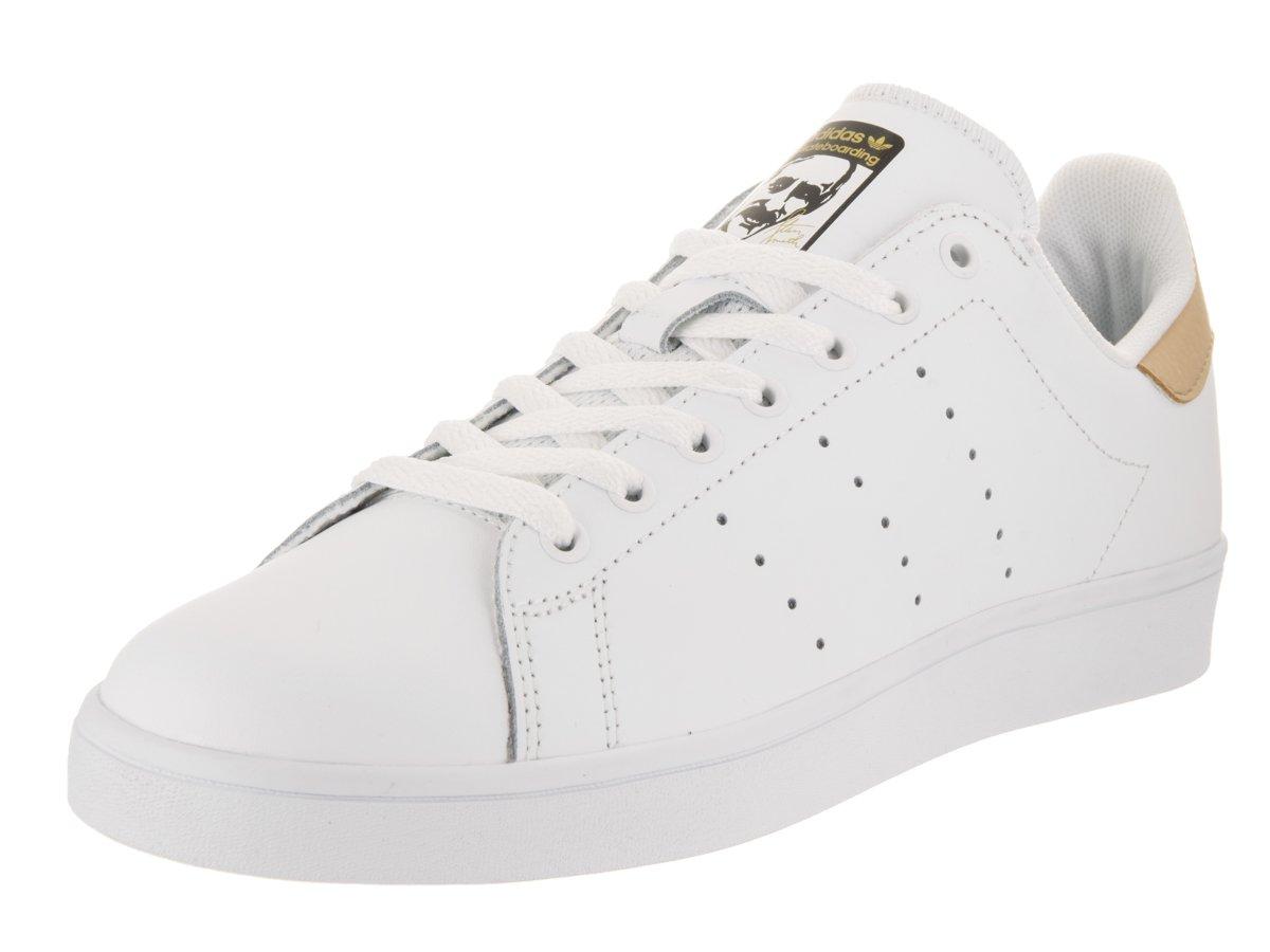 adidas Originals Men's Stan Smith Vulc Shoes B01LZ70A9V 12 M US Women / 11 M US Men Footwear White/Pale Nude/Gold Metallic