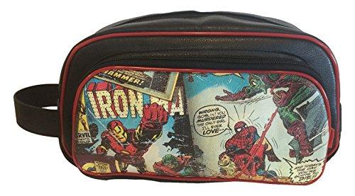 BB Designs, Marvel Retro Comics, Toiletry Bag, Makeup Toiletries Bag (Superhero Iron Marvel Comics)
