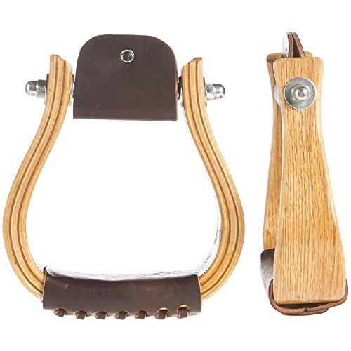 Aime Imports 2 inch Wooden Stirrup Oakwood 2INCH