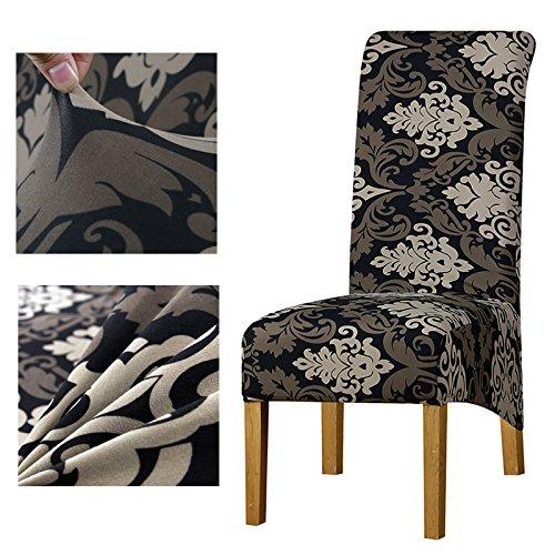 プリント柄 花柄 ヨーロピアンサイズ ロングバック チェック柄 椅子カバー 椅子カバー ホテルパーティー 宴会 椅子カバー 8pcs-XL Size 5043021212354 8pcs-XL Size カラー28 B07MYR39G4
