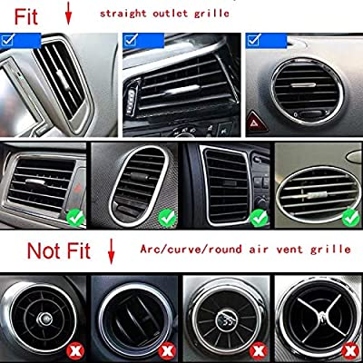 Royalfox 10 Pieces Chrome PVC Car Auto Air Conditioner Vent Outlet Trim Decoration Strip for Audi,Dodge,Jeep Renegade Cherokee, BMW 1 2 3 4 5 6 7 Series,Car Shiny Accessories for Women Girl (red): Automotive