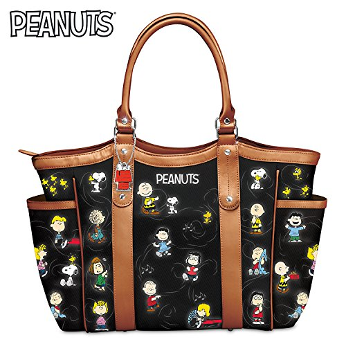 The PEANUTS Gang Women's Shoulder Tote Bag by The Bradford Exchange