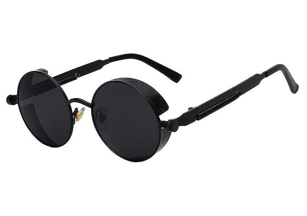 2dc0ba5fe Men Round Mirror UV400 Steampunk Sunglass Women Retro Vintage Sun Glasses  (Black, 4.7): Amazon.ca: Clothing & Accessories
