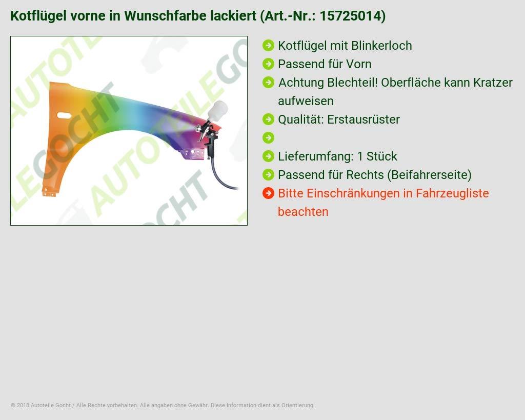 VERZINKTER KOTFL/ÜGEL VORNE M BLINKERL RECHTS IN WUNSCHFARBE LACKIERT VON AUTOTEILE GOCHT