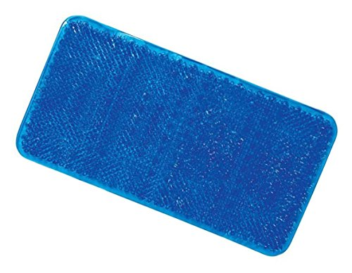 ALL FOR YOU Soft Anti-Slip Shower Tub Grass Massage Bath Mat (Blue)-BPA, Latex, Phthalate Free