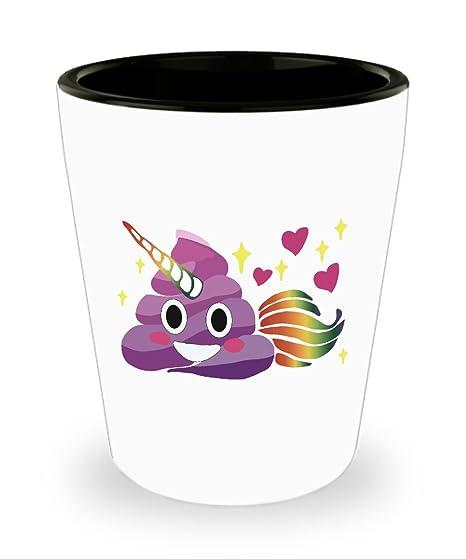 Amazon.com: Unicornio caca Emoji Rainbow cola cuerno morado ...