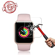 2 Pack Apple 42mm Watch Screen Protector (42mm Series 3/2/1 Compatible) Live2Pedal Full Coverage Anti-Scratch/Anti-Fingerprint/High Definition Screen Protector Compatible Apple Watch 42 mm