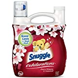 Snuggle Exhilarations Liquid Fabric Softener, Cherry Blossom & Rosewood, 96 Fluid Ounces - Pack of 6