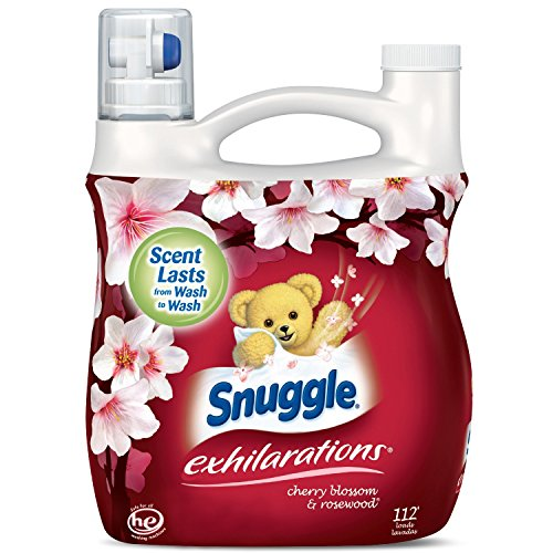 Snuggle Exhilarations Liquid Fabric Softener, Cherry Blossom & Rosewood, 96 Fluid Ounces - Pack of 6 by Snuggle S