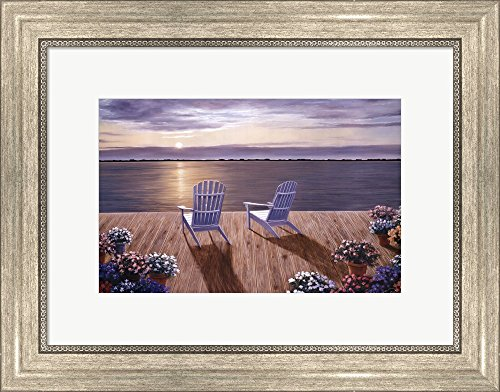 Among Friends I by Diane Romanello Framed Art Print Wall Picture, Silver Scoop Frame, 18 x 14 inches