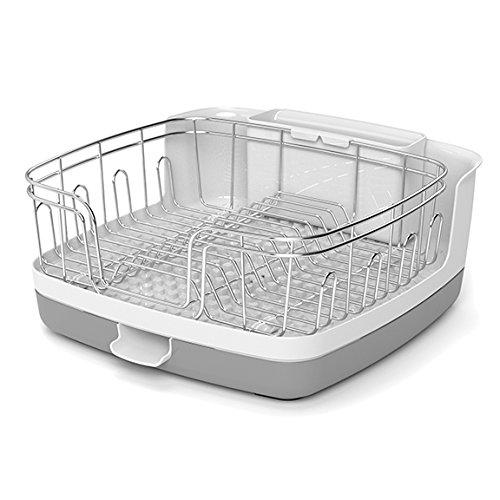 Reo Versa Compact Dish Rack, Gray/White