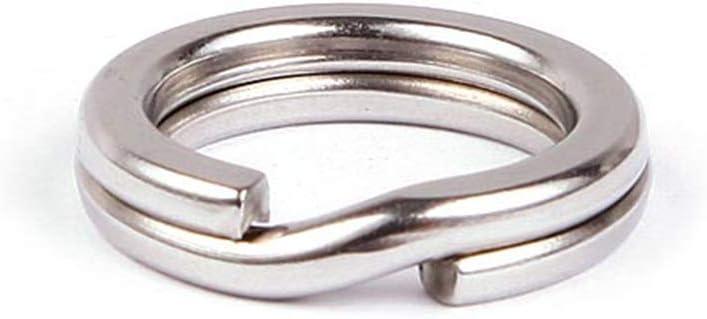 50Pcs 5MM Angeln Solid Edelstahl Snap Split Ring Lure Tackle Fischköder Ring