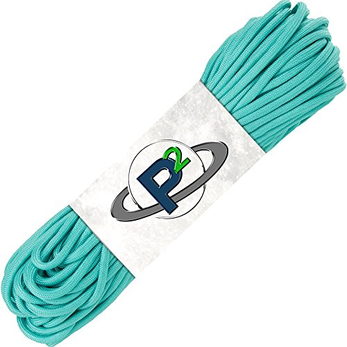 PARACORD PLANET Mil-Spec Commercial Grade 550lb Type III Nylon Paracord 100 feet Turquoise