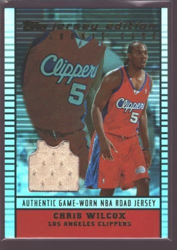 CHRIS WILCOX 2002-03 TOPPS JE GAME USED WORN JERSEY PATCH MARYLAND CLIPPERS $12 ()