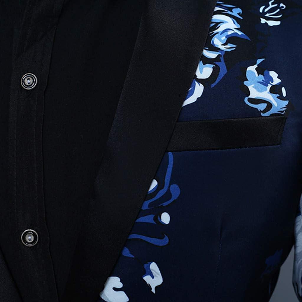 Pantaloni Slim Fit Blazer Uomo Casual Classico Sportivo per Festa Cerimonia Matrimonio Affari Gilet Classico Mambain Abiti Uomo Completo Blazer Uomo Tre Pezzi Giacche Elegante