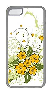 iPhone 5c Cases - Wholesale Summer Cool TPU Transparent Cases Personalized Design Corner Blossom