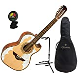H. Jimenez LBQ4 (El Patro\'n) Solid Spruce Top Bajo Quinto with Gig Bag, Stand, and Tuner