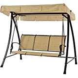 Mainstays Wesley Creek Porch Swing for 3-Person (Tan)