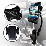 Blackberry Passport Case Custom Made In Car Flexible Arm Phone Holder With Built In Charger, Lighter Port And USB Connections by ONX3®