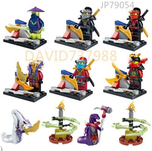 [gonggamtop 8pcs/lot Minifigures Ninjago Cowler Kai Cole Master Chen Pythoy Building Toys] (Diy Toothless Dragon Costume)