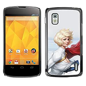 Cubierta protectora del caso de Shell Plástico || LG Google Nexus 4 E960 || Muscle Girl Woman Lady @XPTECH