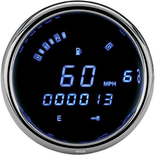 ダコタデジタル Dakota Digital スピード/タコメーター(km/h、MPH) 3200 FXCW 青LED/クローム 211260 MCL-3207   B01N3U6MXG