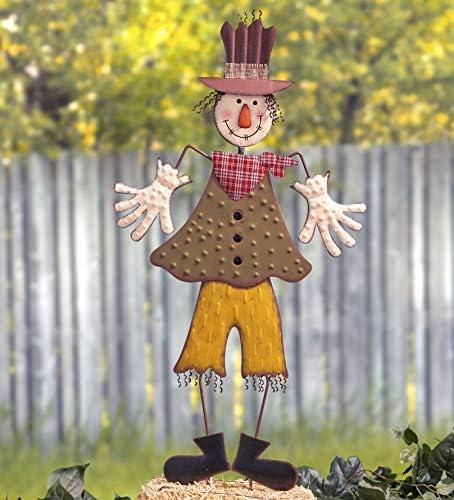 Scarecrow Garden Yard Stake Fall Harvest Thanksgiving Halloween Outdoor Lawn Art