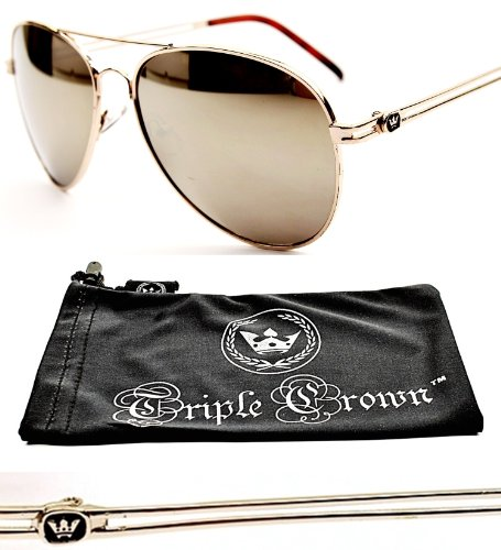 fb21c1792 Chp T-crown Aviator Mirrored Sunglasses T01 (Mr Gold-mirrore W Pouch,  Mirrored) - Buy Online in Oman.   Eyewear Products in Oman - See Prices, ...