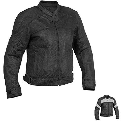 River Road Sedona Womens Black/Grey Mesh/Textile Jacket - X-Large