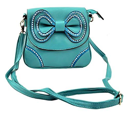Blue Bow Bag Diamante EyeCatch Cross Lyla Womens Body ShoulderBag qW1nwB4A