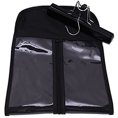 Hair Extension Storage Bag, Hair Extension Hanger Strong Holder, Dust-proof Portable Suit with Transparent Zip Up Closure- Lightweight, Waterproof and Portable
